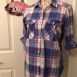🌺EXPRESS LONG SLEEVE FLANNEL BLOUSE SIZE M
